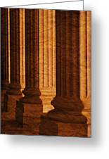Row Of Large Columns Greeting Card