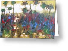 Row Of Palms Greeting Card