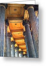 Row Of Pillars Greeting Card