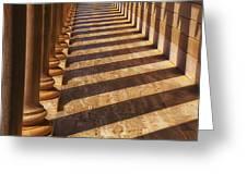 Row Of Pillars Greeting Card by Garry Gay
