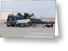 Row Of T-38c Trainer Jets At Nellis Air Greeting Card