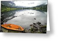 Row Your Boat To The Briksdalsbreen Glacier Greeting Card