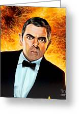 Rowan Atkinson Alias Johnny English Greeting Card