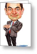 Rowan Atkinson As Mr. Bean Greeting Card