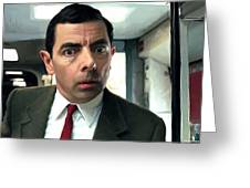Rowan Atkinson As Mr. Bean Large Size Portrait Greeting Card