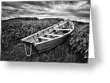 Rowboat At Prospect Point - Black And White Greeting Card