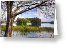 Rowboats At The Lake Greeting Card