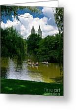 Rowboats Central Park New York Greeting Card by Amy Cicconi
