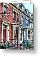 Rowhouses Of Eastern Market Xiv Greeting Card