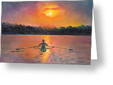Rowing Away Greeting Card