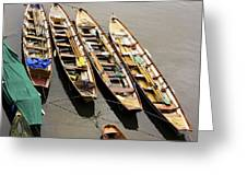Rowing Boats Greeting Card