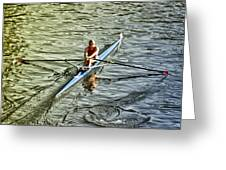 Rowing Crew Greeting Card by Bill Cannon