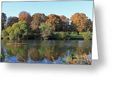 Rowing On The River Thames At Hampton Court London Greeting Card