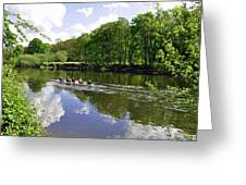 Rowing Practice - Near Branston Greeting Card