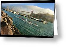Rowing To The Golden Gate Bridge Greeting Card