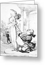 Rowlandson: Cartoon, 1810 Greeting Card