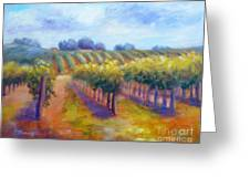 Rows Of Vines Greeting Card