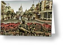 Roy And Minnie Mouse Antique Style Walt Disney World Greeting Card