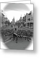 Roy And Minnie Mouse Black And White Magic Kingdom Walt Disney World Greeting Card