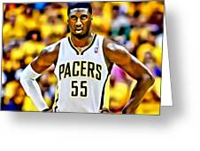 Roy Hibbert Greeting Card by Florian Rodarte