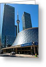 Roy Thomson Hall And Cn Tower Greeting Card