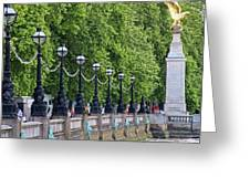 Royal Air Force Memorial By The River Thames 5801 Greeting Card
