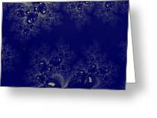Royal Blue Frost Fractal Greeting Card