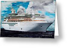 Royal Caribbean Sovereign Of The Seas Greeting Card