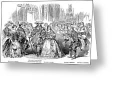 Royal Costume Ball, 1851 Greeting Card