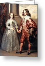 Royal Couple, 1641 Greeting Card