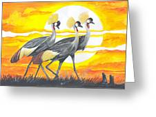 Royal Cranes From Rwanda Greeting Card