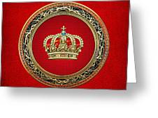 Royal Crown In Gold On Red  Greeting Card