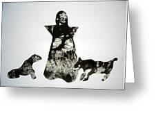 Royal Dogs Greeting Card