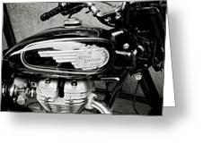 Royal Enfield Motorbike Greeting Card