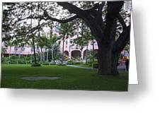 Royal Hawaiian Hotel Entrance Greeting Card