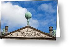 Royal Palace In Amsterdam Architectural Details Greeting Card