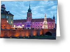 Royal Palace In The Old Town Of Warsaw Greeting Card