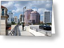 Royal Palm Way Bridge Greeting Card