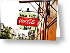 Royal Pharmacy Soda Sign Greeting Card