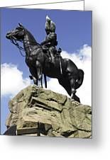 Royal Scots Greys Monument In Edinburgh Greeting Card