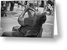 Royal Street Clarinet Player New Orleans Greeting Card
