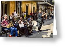 Royal Street Jazz Musicians Greeting Card