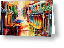 Royal Street Reflections Greeting Card by Diane Millsap