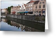 Rozenhoedkaai Bruges Greeting Card