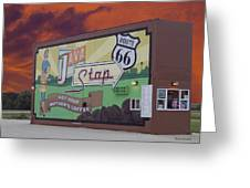 Rt 66 Dwight Il Java Stop Greeting Card