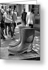 Rubber Boots Greeting Card