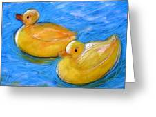 Rubber Ducks In A Tub Greeting Card