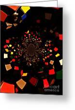 Rubik's Explosion Greeting Card by Scott Allison