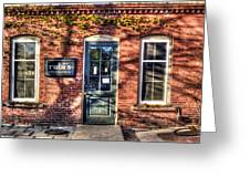 Rubi's Coffee And Sandwiches - Great Barrington Greeting Card