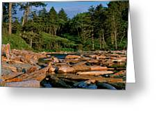 Ruby Bay North Pacific Ocean Greeting Card